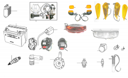 Elektrik, Schloßsatz,Schalter, Beleuchtung