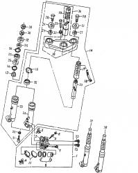 Vordergabel, Lenkkopflager, Bremssattel