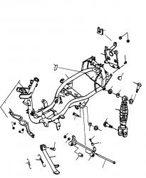 Rahmen, Federbein, Seitenständer