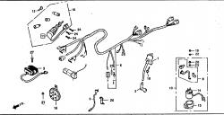 Kabelbaum, Zündspule, Schloßsatz