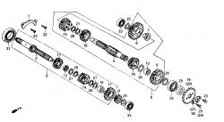Getriebe bis FgNr.:KMYVS125FKX301568