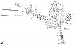 Ölfilter, Motorgehäuse rechts