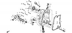 Motorgehäusedeckel re. / Wasserpumpe