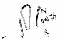 Nockenwellenkette / Spanner