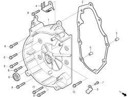 Motorgehäusedeckel rechts