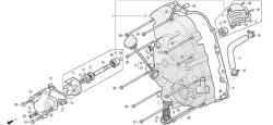 Motorgehäusedeckel rechts, Wasserpumpe