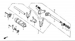 Schaltwelle / Schaltwalze