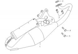 Auspuff f. 2-Takt Motor