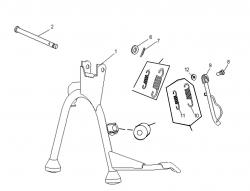 Ständer 2-Takt motor (Ständer am Motor befestigt)