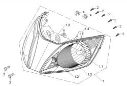 Scheinwerfer vo. f. QT20-B2