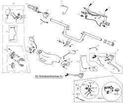 Bremse , Lenker , Griffe, Spiegel, Schalter