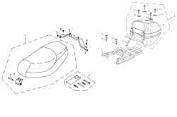 Sitzbank, Gepäckträger, Topcase