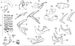Verkleidungsteile vorne / Instrumente