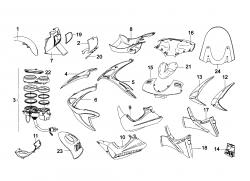 Verkleidung vorne / Instrumente
