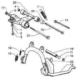 Hauptständer, Motoraufhängung
