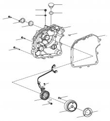 Lichtmaschine, Motorgehäusedeckel rechts
