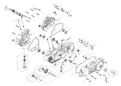 Motorgehäuse, Kickstarter, Ölsieb, Ritzel