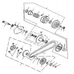 Keilriemen / Kupplung / Variomatik