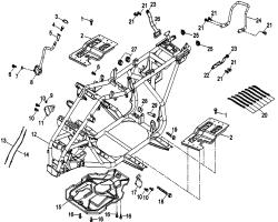 Rahmen f. Trittbretter / Halter / Schalthebel