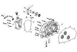 Getriebedeckel / Ritzel