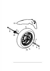 Vorderrad / Kotflügel vorne