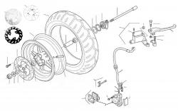 Bremsanlage vo., Vorderrad