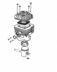 Zylinder, Kolben, Dichtungen