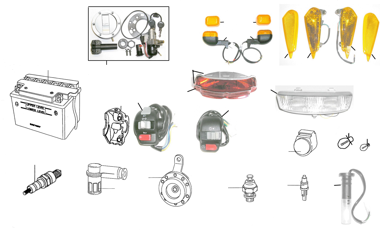 Elektrik, Schloßsatz, Schalter, Beleuchtung