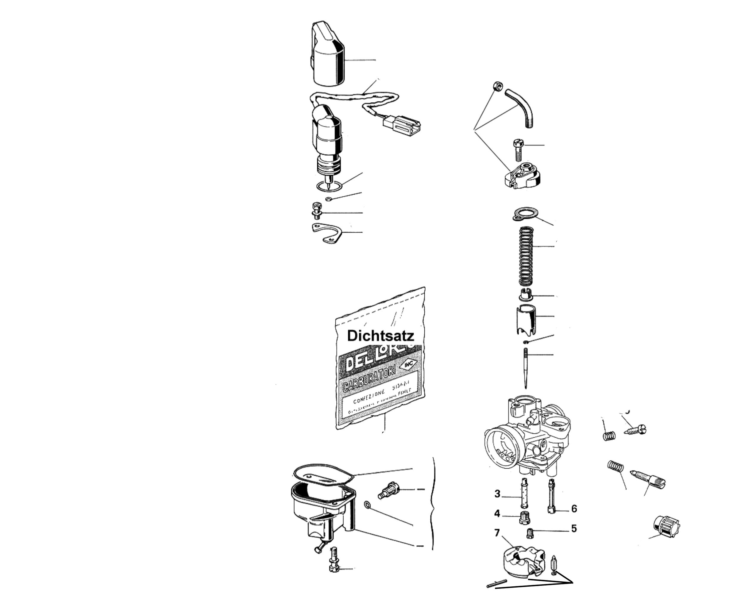 Vergasereinzelteile Dellorto 17,5