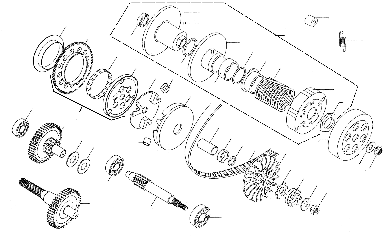 Variomatik, Getriebe