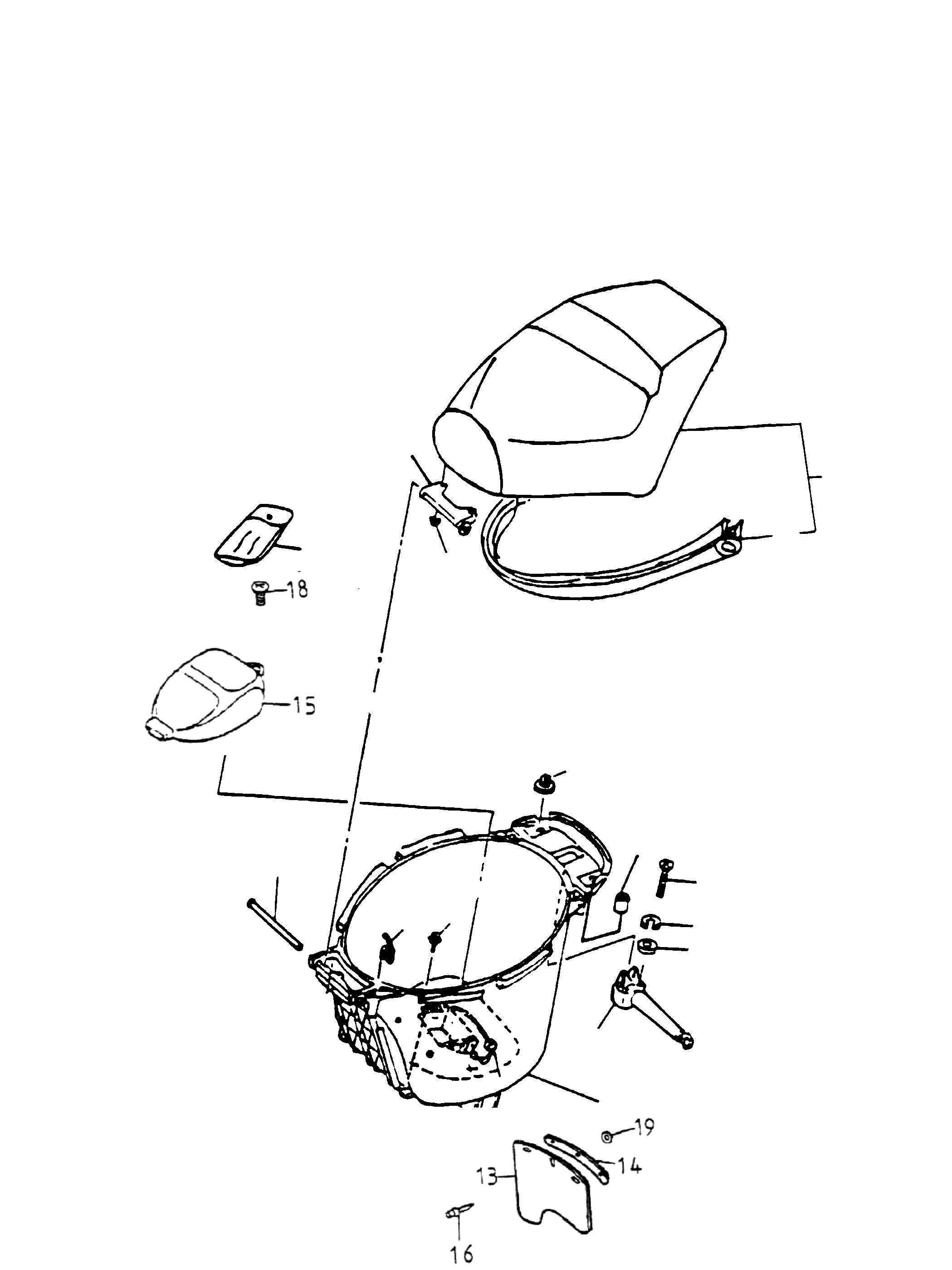Sitzbank, Helmfach