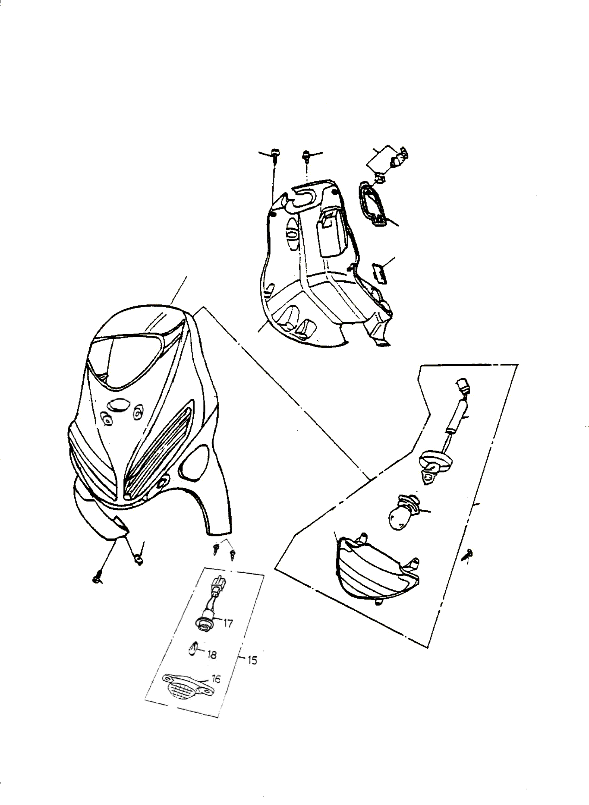 Frontverkleidung, Scheinwerfer