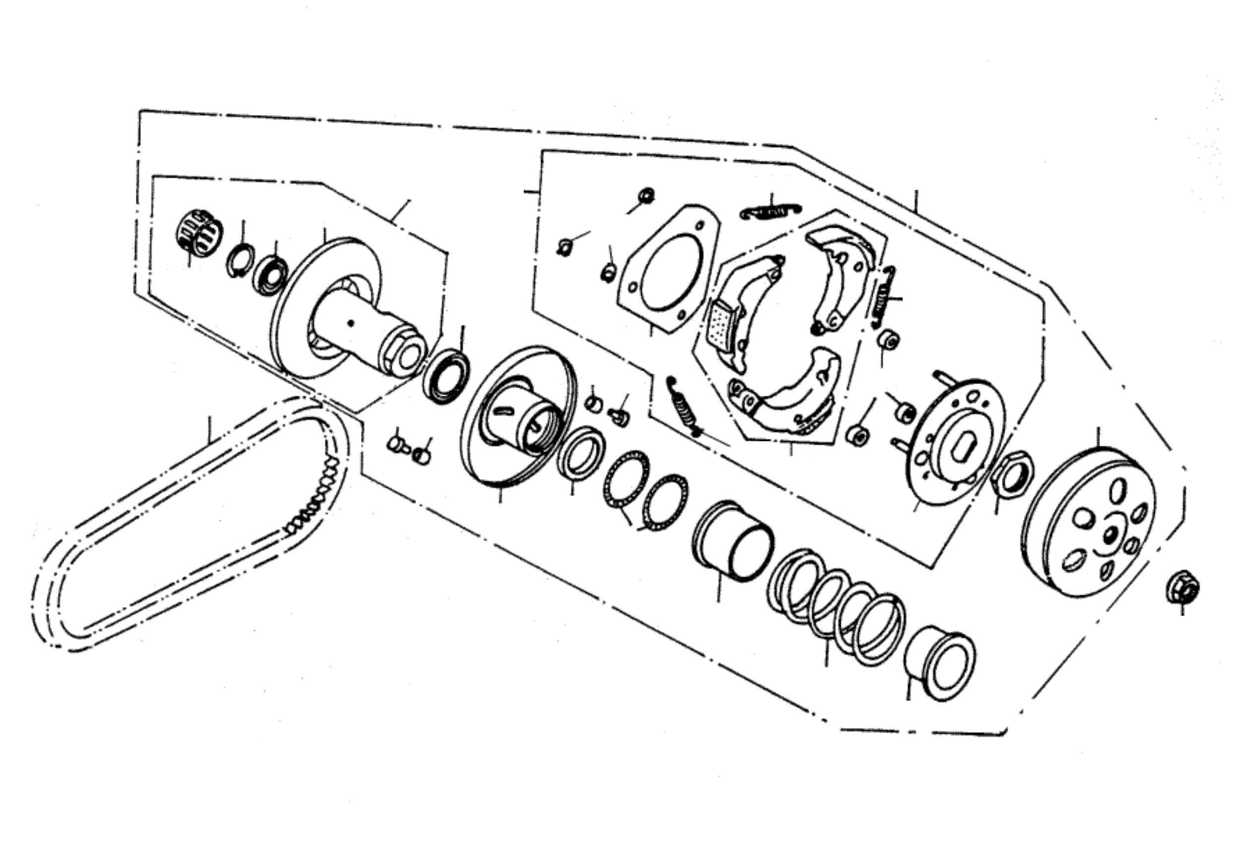 Keilriemen / Variomatik hinten / Kupplung