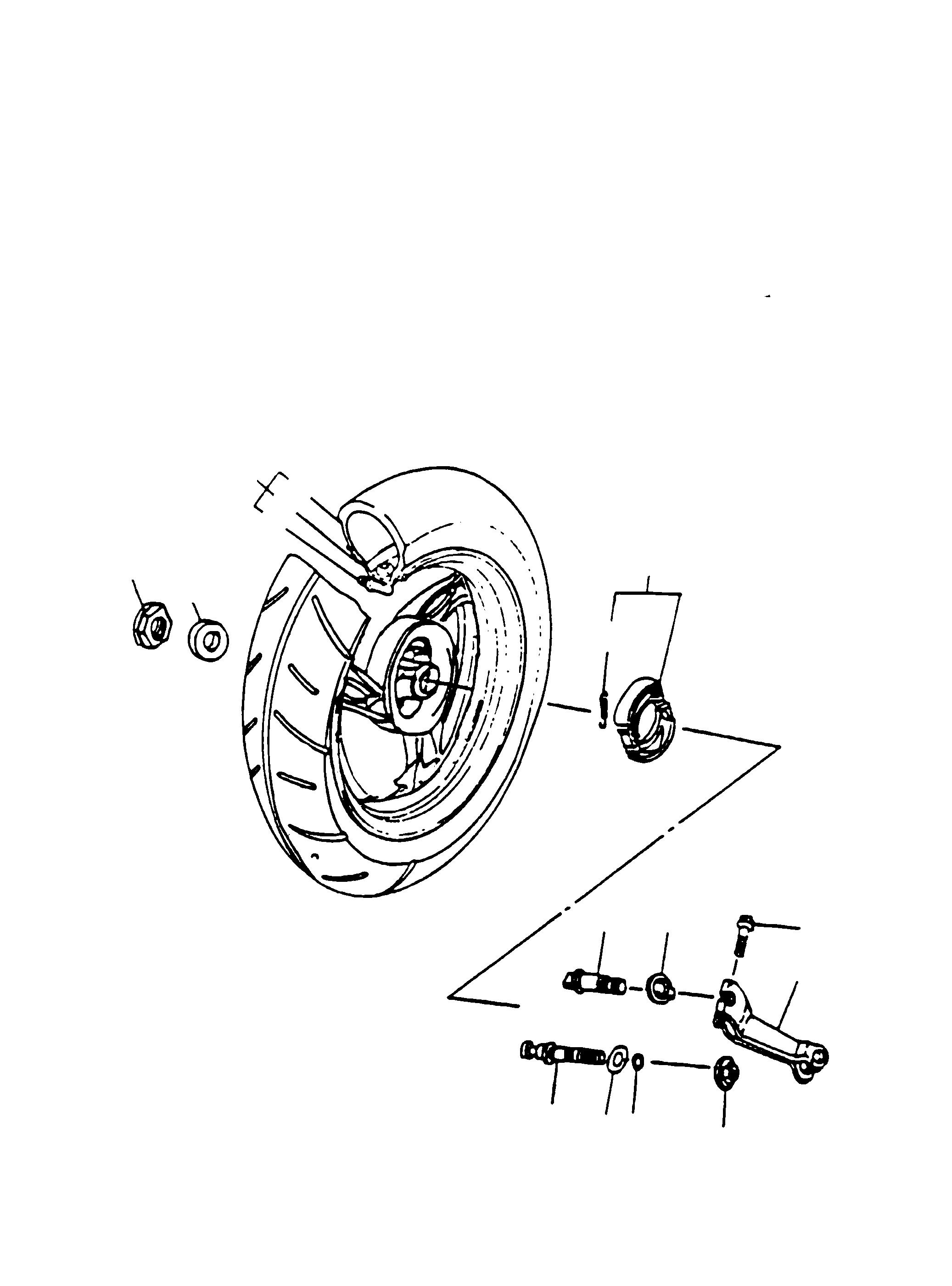 Hinterrad, Bremsbacken