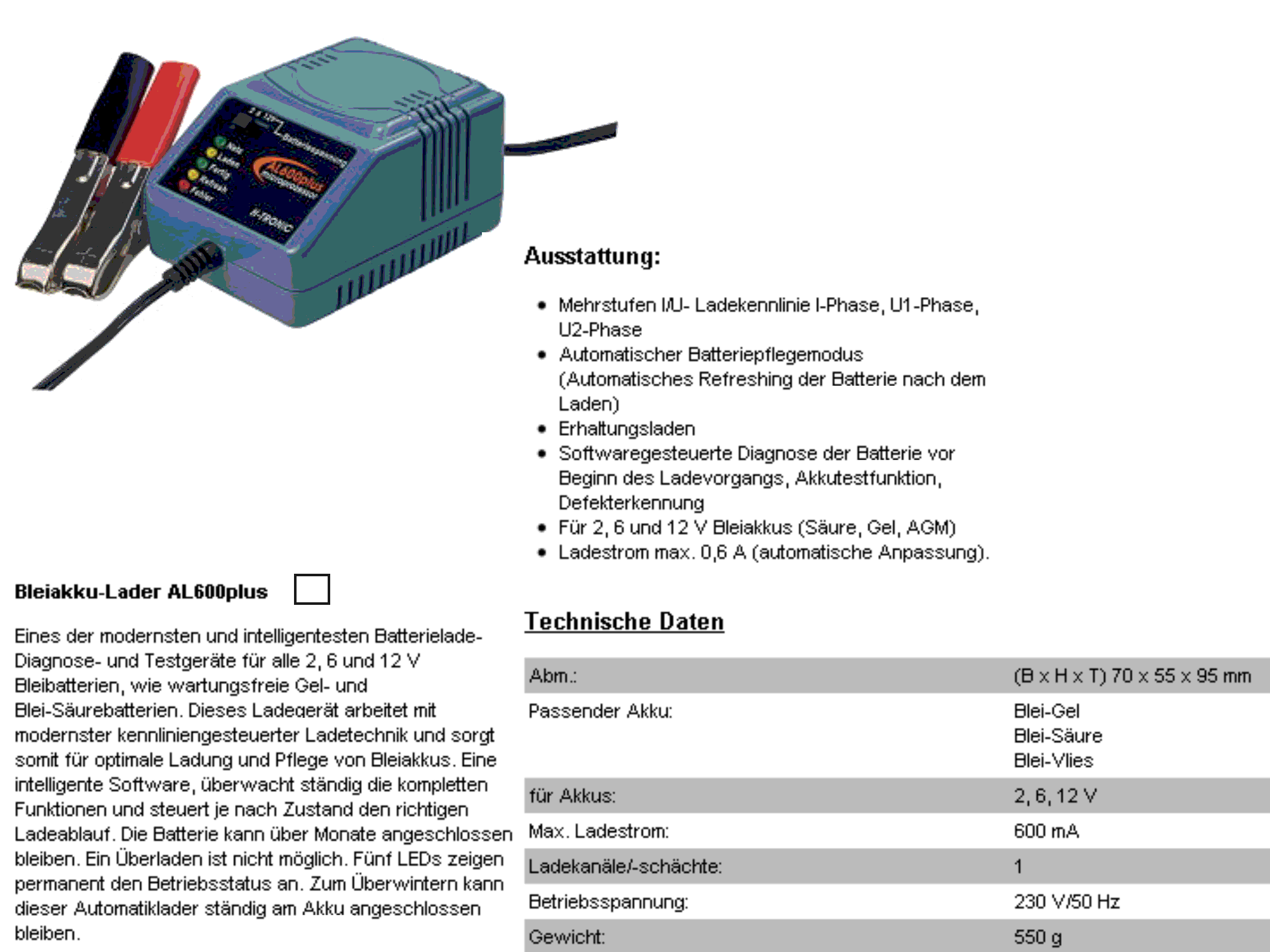 Automatik Lader AL600PLUS