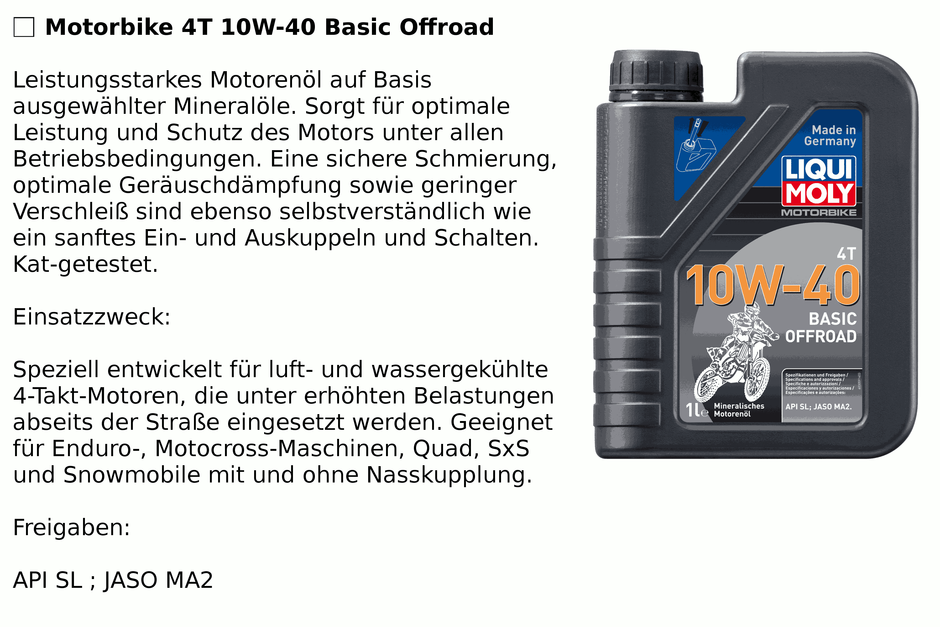4T 10W-40 Basic Offroad