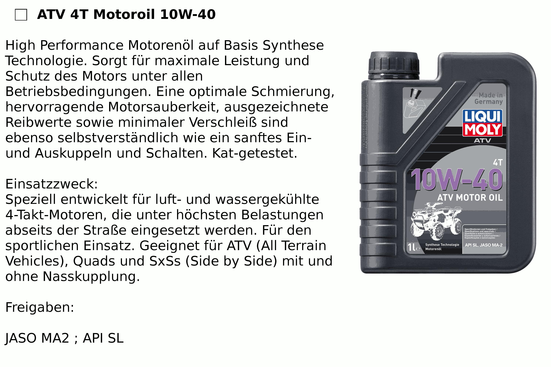 4T ATV 10W40