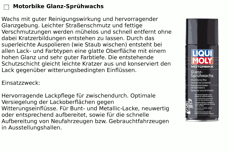Glanz-Sprühwachs