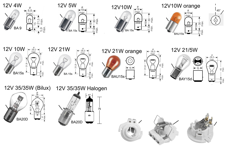 Bajonettsockel BA9 / BA15 / BA20d