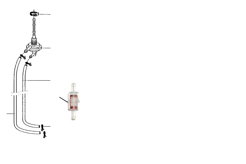 Benzinhahn, Filter, Gaszug