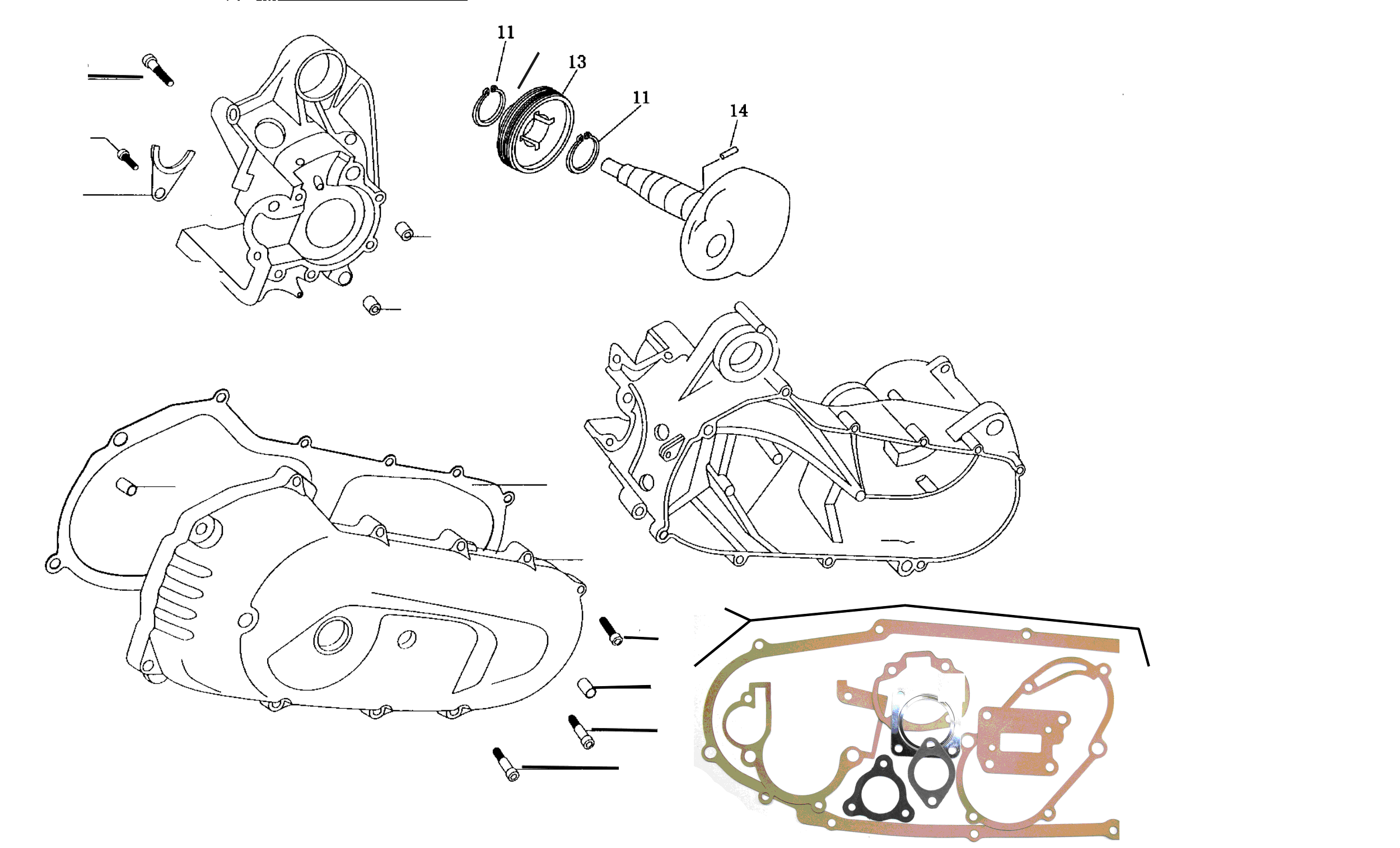 Motorgehäuse, Dichtsatz