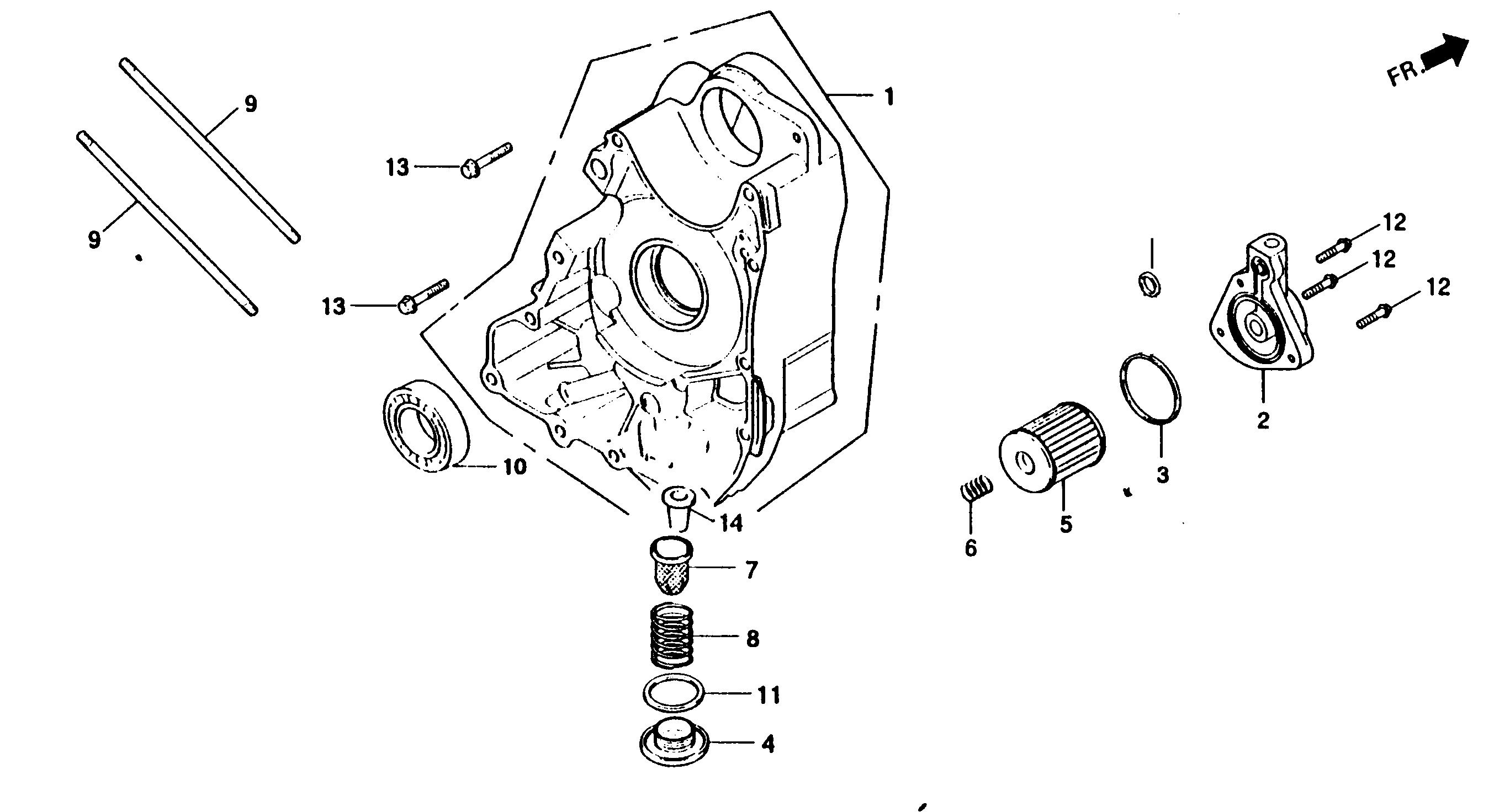 Motorgehäuse rechts, Ölfilter