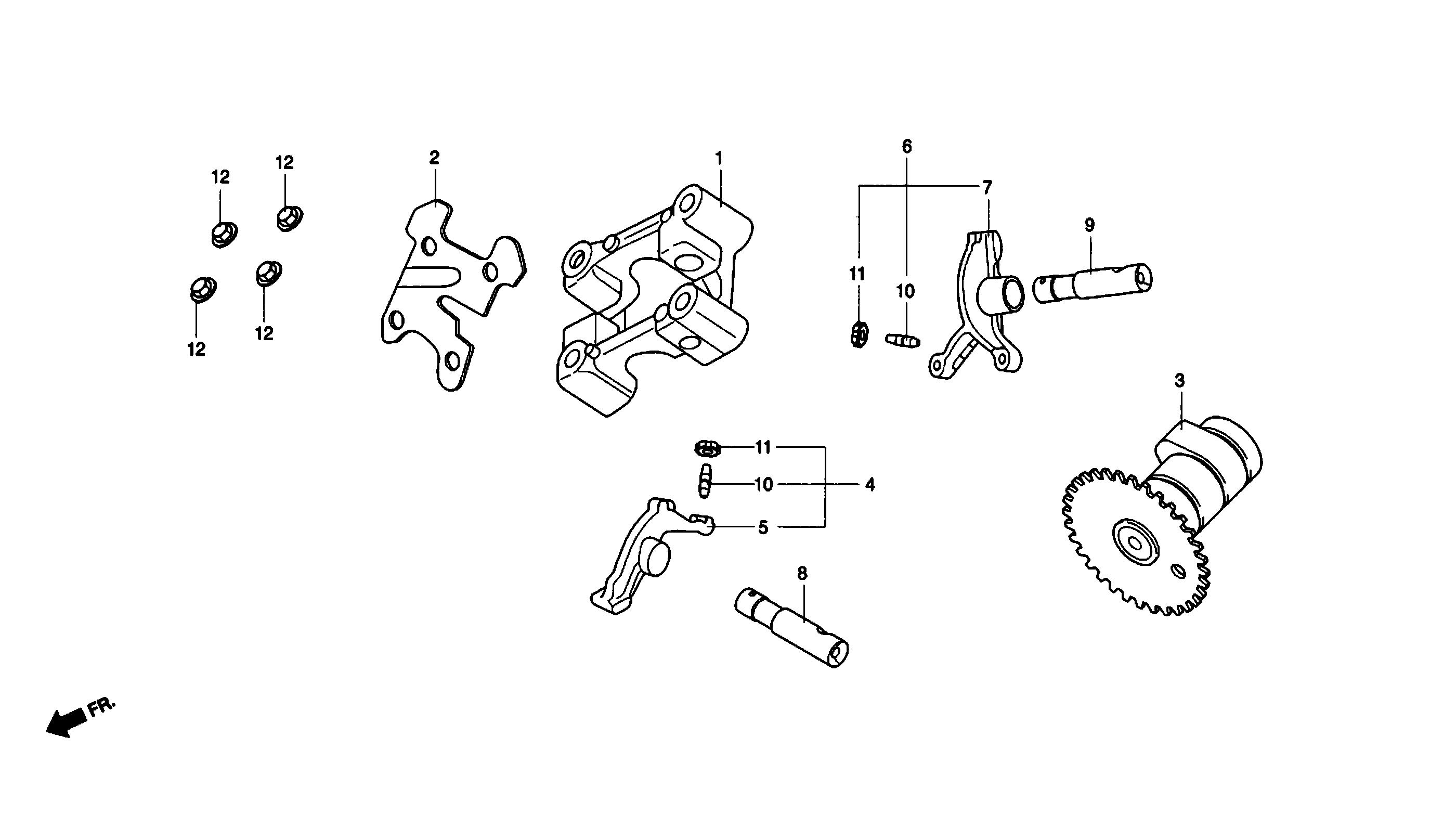 Nockenwelle / Kipphebel