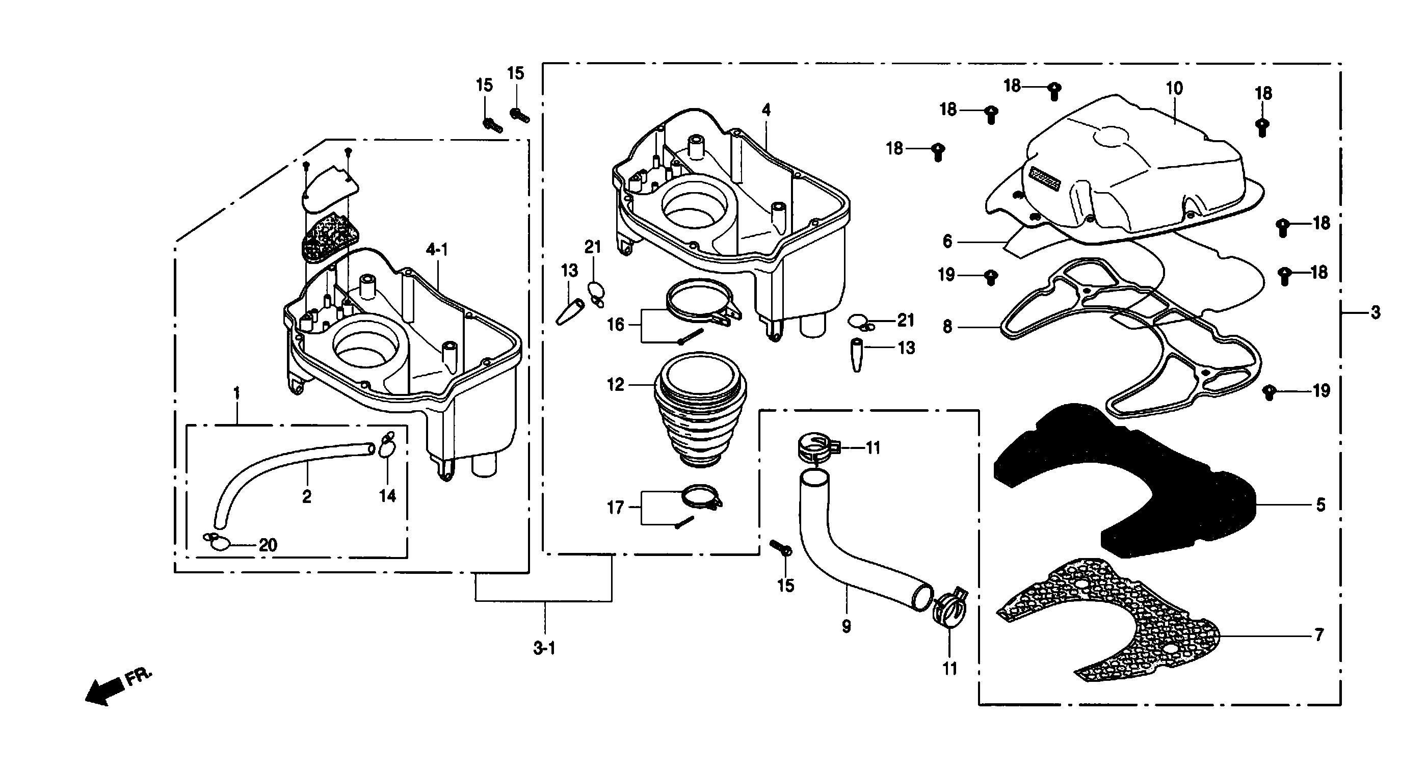 Luftfilter, -Kasten