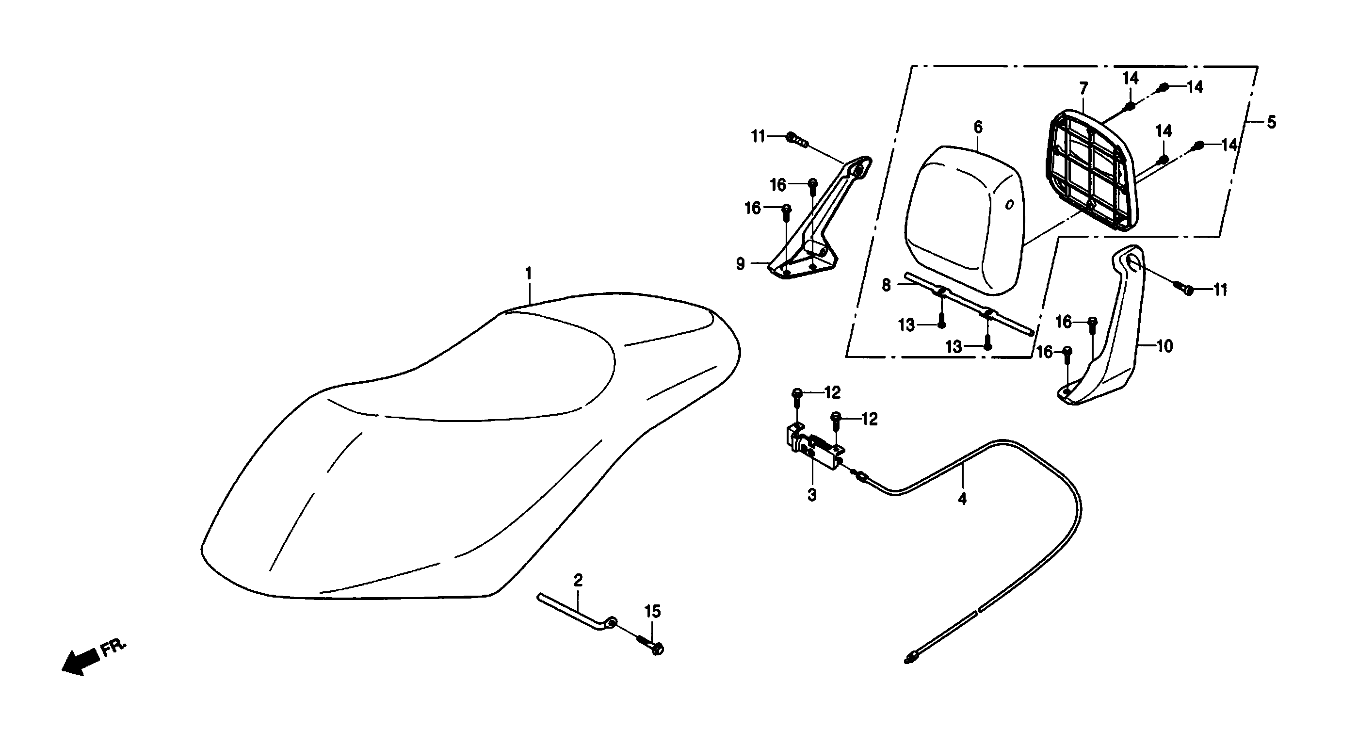 Sitzbank, Rückenlehne