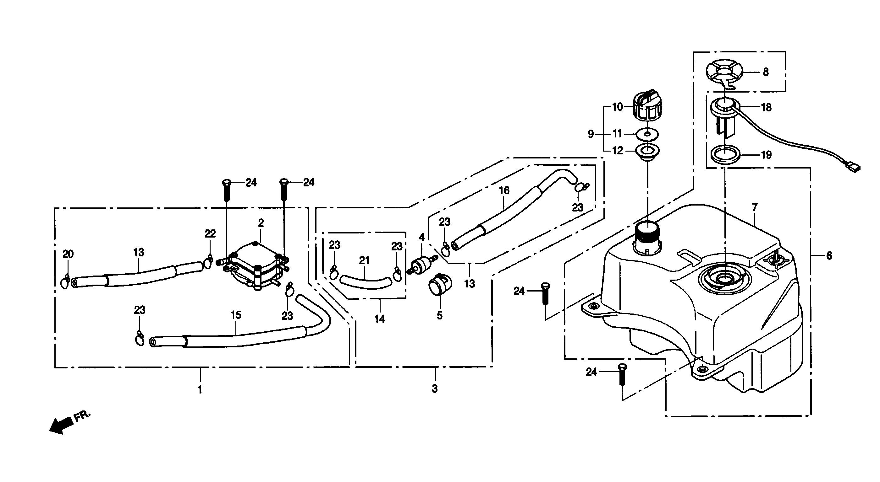 Benzintank, Benzinpumpe