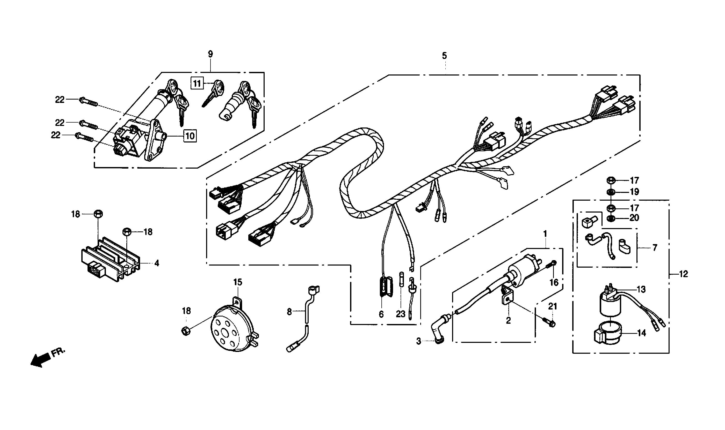 Kabelbaum / Zündspule / Schlösser