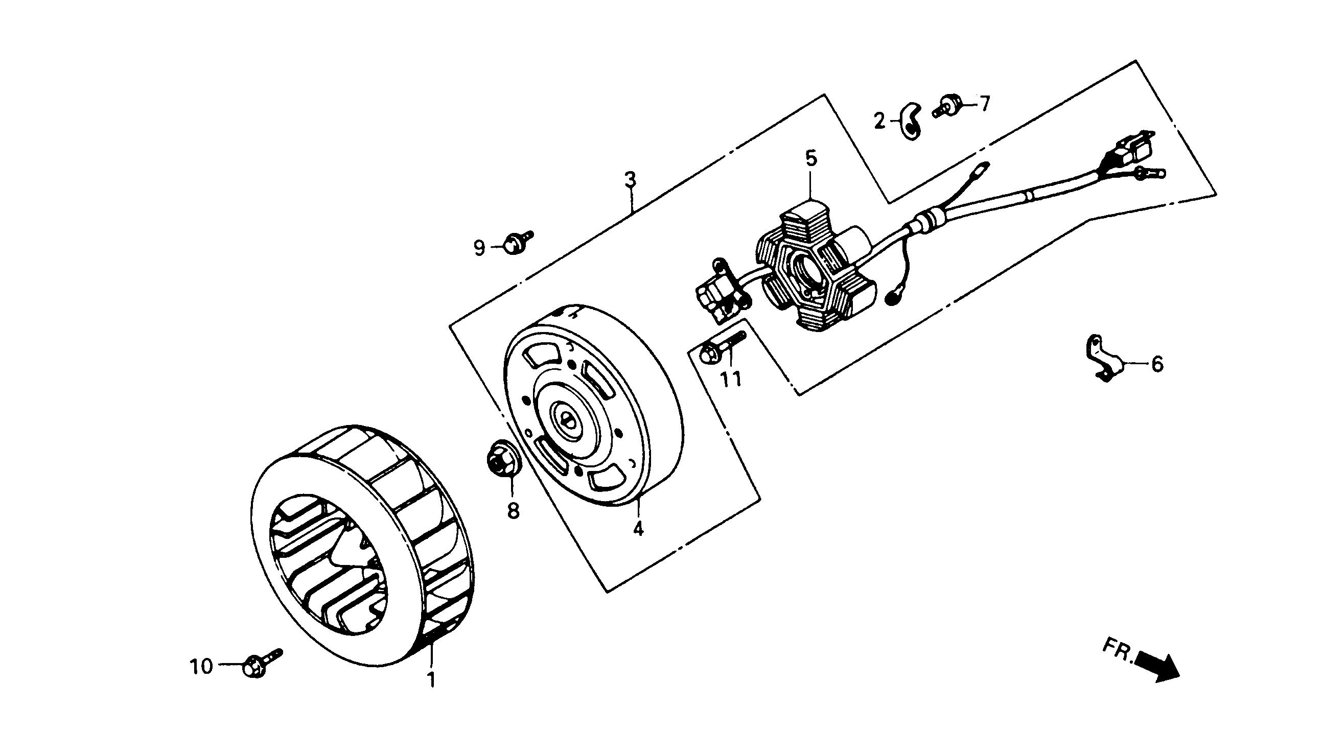 Lichtmaschine / Gebläserad