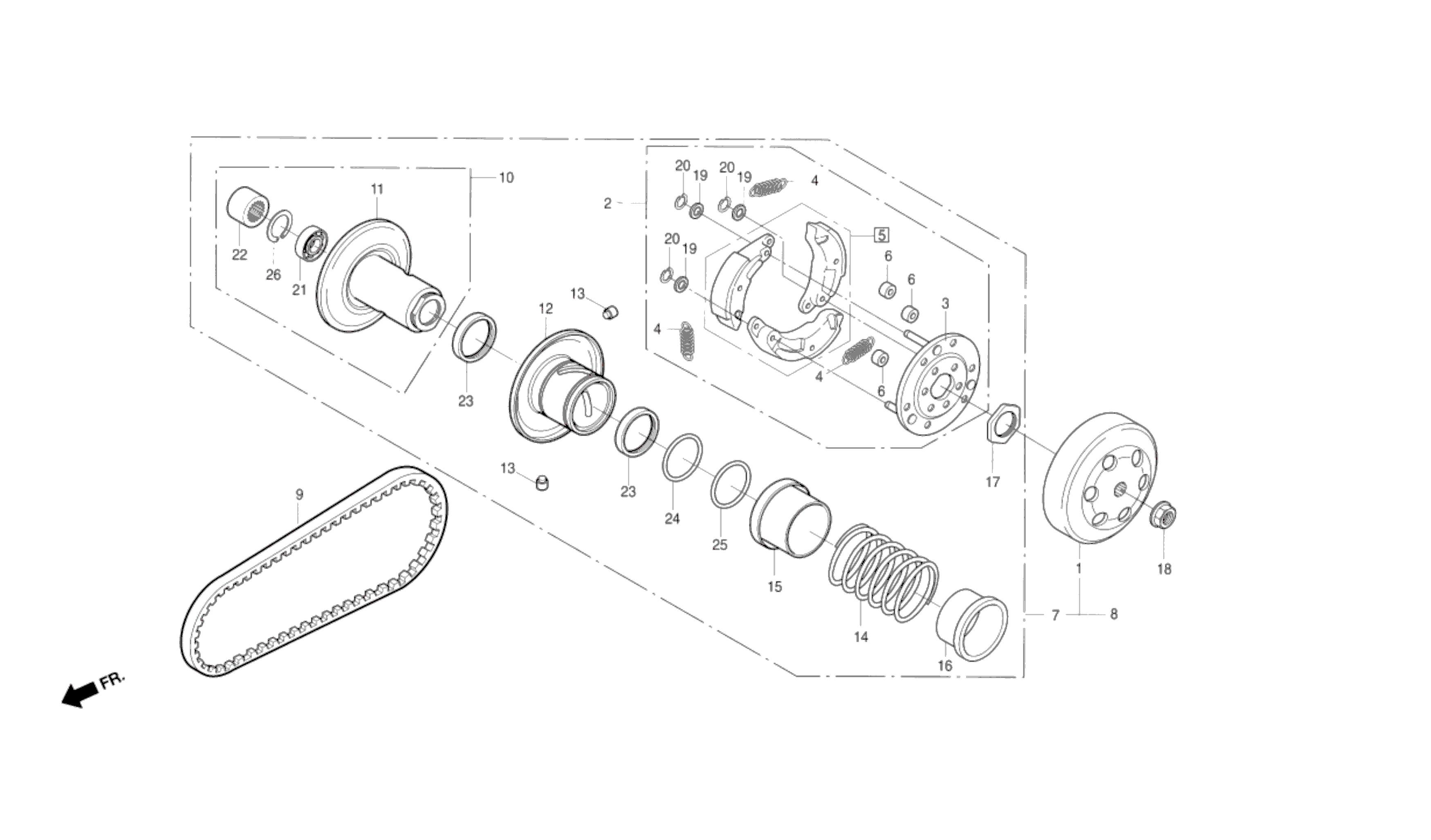 Kupplung / Keilriemen