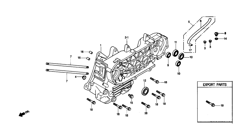 Motorgehäuse links